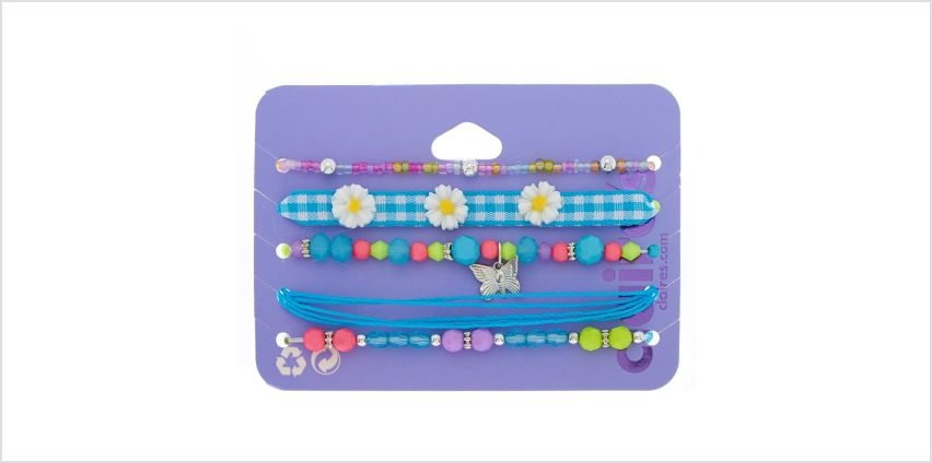 Go to Product: Spring Dreams Bracelets - Blue, 5 Pack from Claires