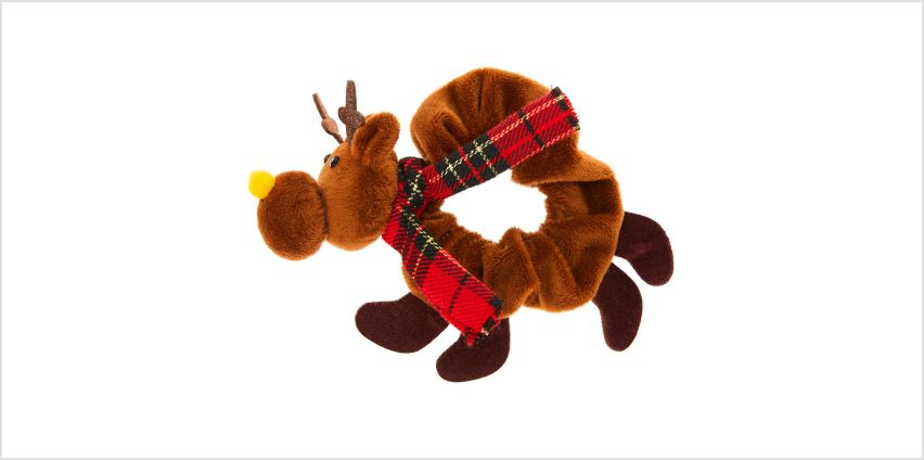 Go to Product: Reindeer Hair Scrunchie - Brown from Claires
