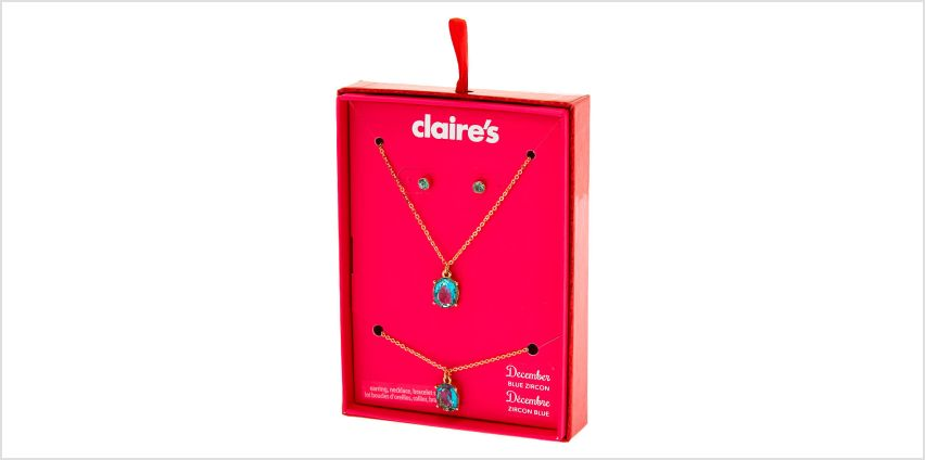 Go to Product: December Birthstone Jewellery Gift Set - Blue Zircon, 3 Pack from Claires