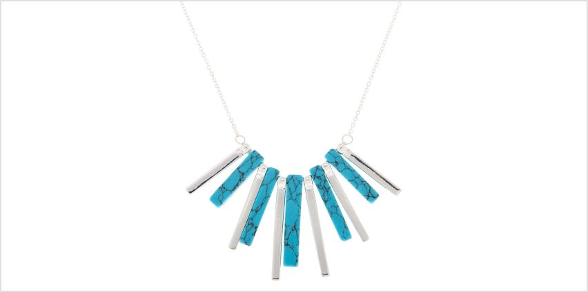 Go to Product: Silver Marble Stick Statement Necklace - Turquoise from Claires