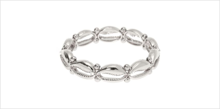 Go to Product: Silver Cowrie Shell Stretch Bracelet from Claires