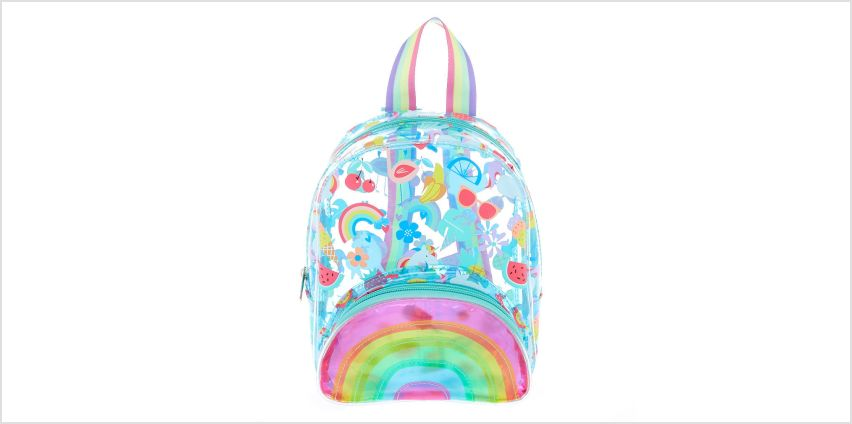 Go to Product: Claire's Club Summer Print Mini Backpack - Blue from Claires