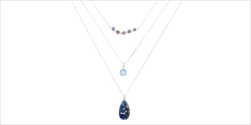 Go to Product: Silver Druzy Bead Multi Strand Necklace from Claires