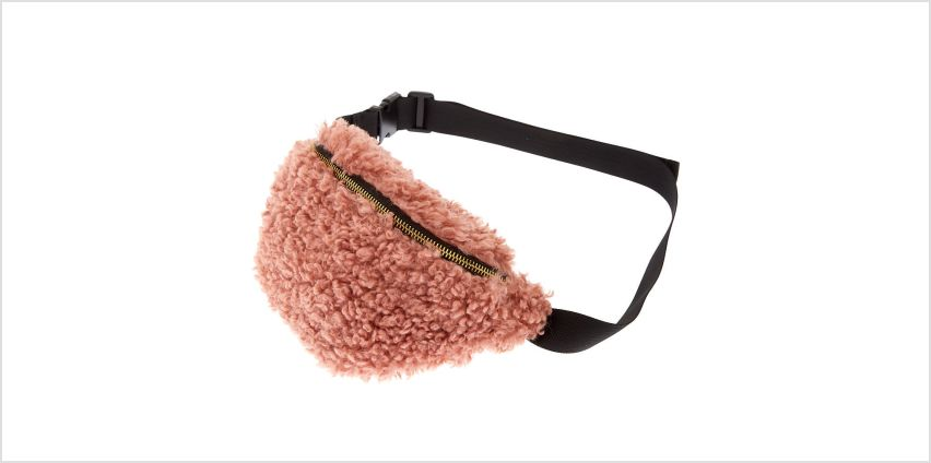 Go to Product: Mongolian Faux Fur Bum Bag - Pink from Claires