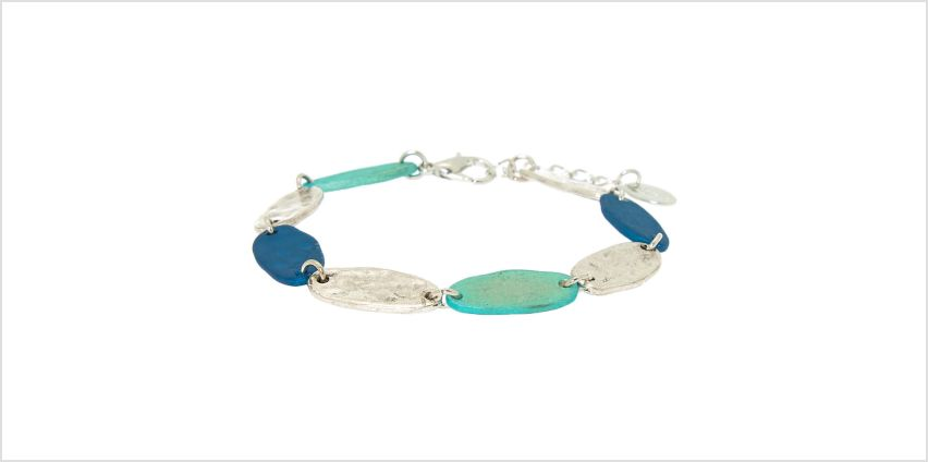 Go to Product: Silver Mixed Patina Chain Bracelet - Blue from Claires
