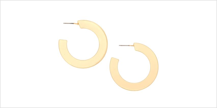Go to Product: Gold 35MM Flat Matte Hoop Earrings from Claires