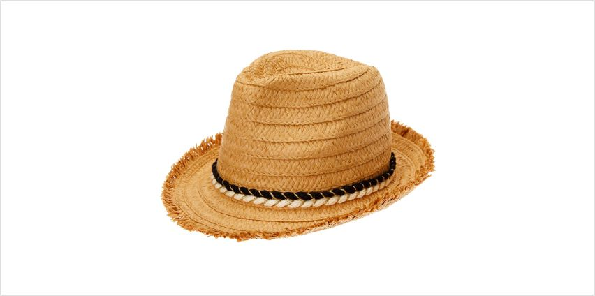 Go to Product: Frayed Straw Fedora Hat from Claires