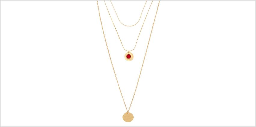 Go to Product: Gold Hammered Disc Multi Strand Necklace from Claires