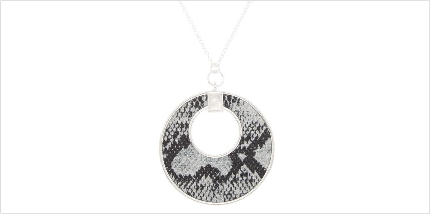 Go to Product: Silver Snake Skin Pendant Necklace from Claires