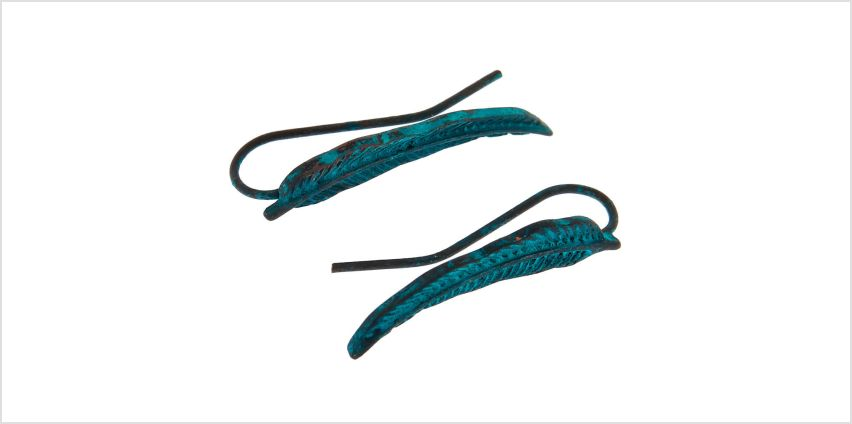 """Go to Product: 1"""" Feather Ear Crawler Earrings - Turquoise from Claires"""
