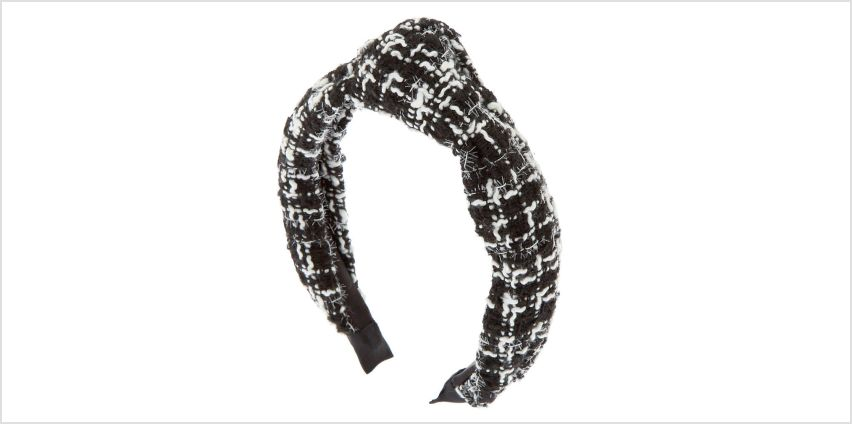 Go to Product: Black & White Tweed Knotted Headband from Claires