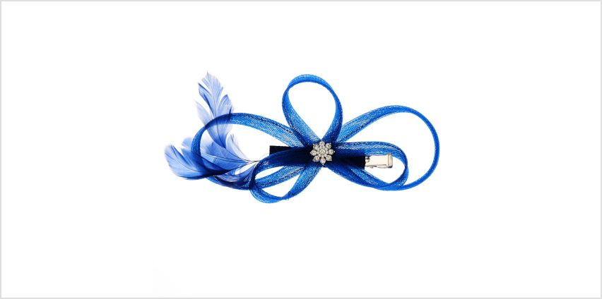 Go to Product: Navy Feather Fascinator Clip from Claires