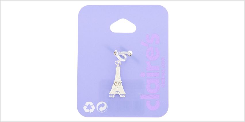Go to Product: Silver Eiffel Tower Bracelet Charm from Claires