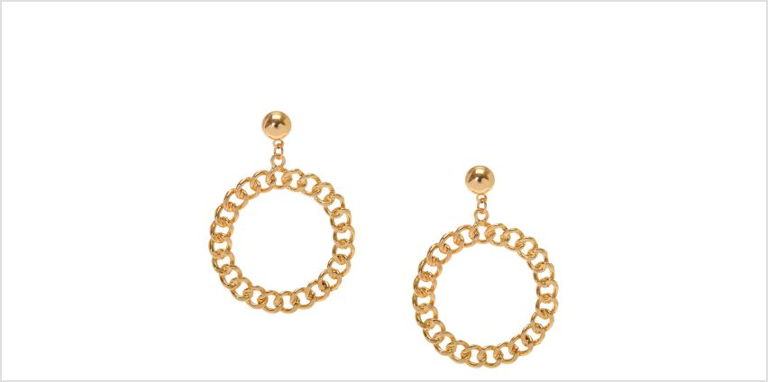 Go to Product: Gold Circle Drop Earrings from Claires