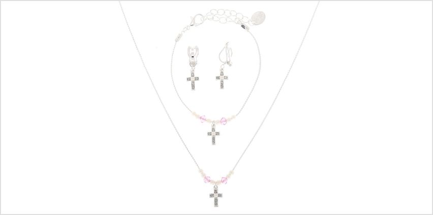 Go to Product: Claire's Club Silver Cross Jewellery Set - 3 Pack from Claires