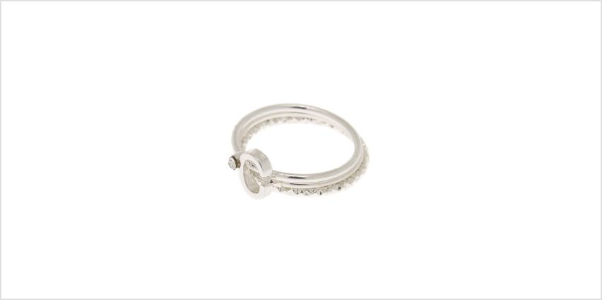 Go to Product: Silver Initial Midi Rings - C, 3 Pack from Claires