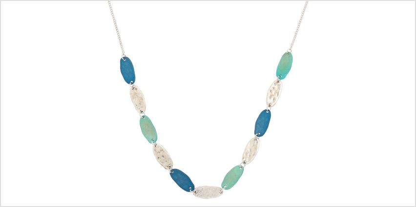 Go to Product: Silver Mixed Patina Statement Necklace - Blue from Claires