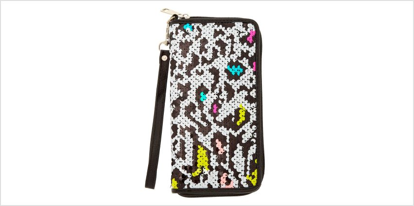 Go to Product: Neon Leopard Reversible Sequin Wristlet from Claires