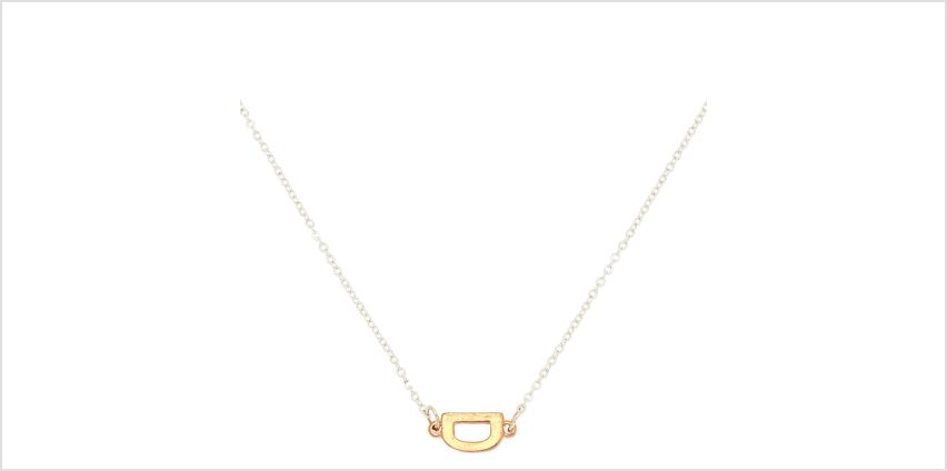 Go to Product: Mixed Metal Sideways Initial Pendant Necklace - D from Claires