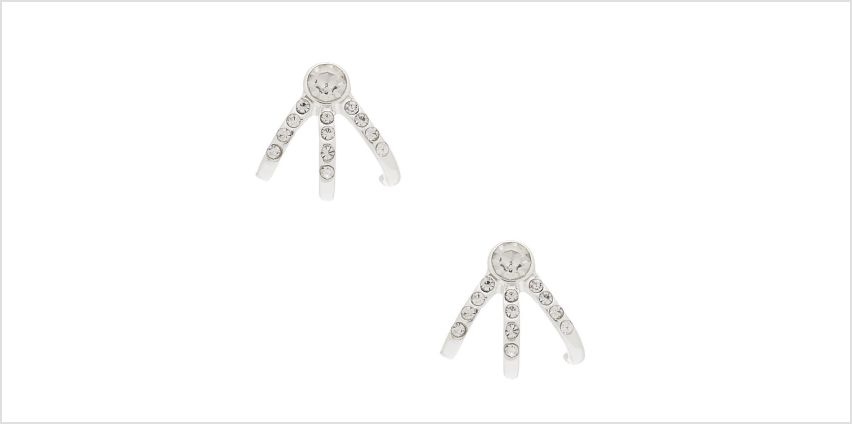 Go to Product: Silver Crystal Huggie Stud Earrings from Claires