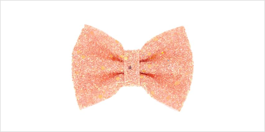 Go to Product: Mini Cake Glitter Hair Bow Clip - Rose Gold from Claires