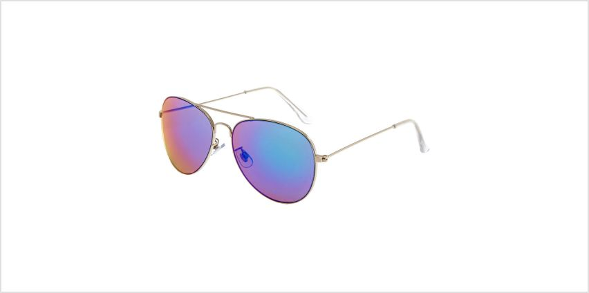 Go to Product: Blue Mirrored Aviator Sunglasses Silver from Claires