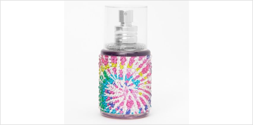 Go to Product: Rainbow Tie Dye Bling Body Spray - Bubble Gum from Claires