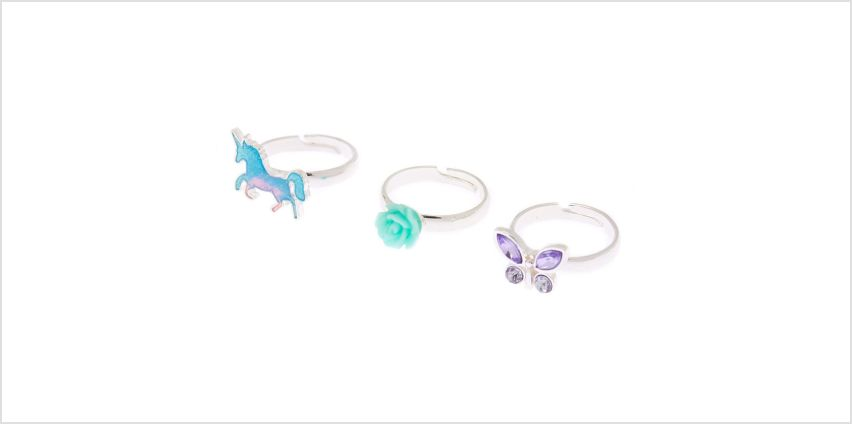 Go to Product: Spring Unicorn Rings - 3 Pack from Claires