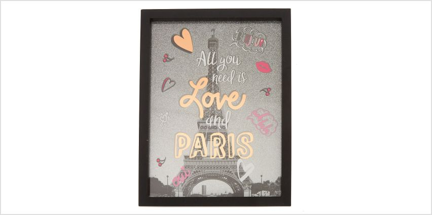 Go to Product: Paris Love Wall Art - Black from Claires