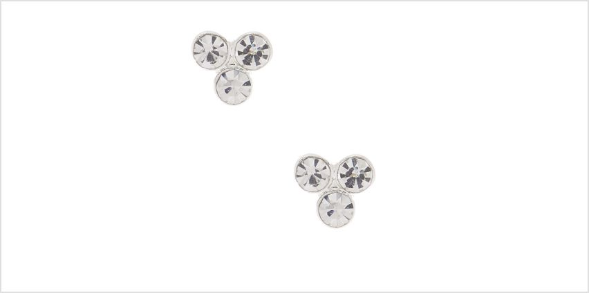 Go to Product: Silver Rhinestone Cluster Stud Earrings from Claires
