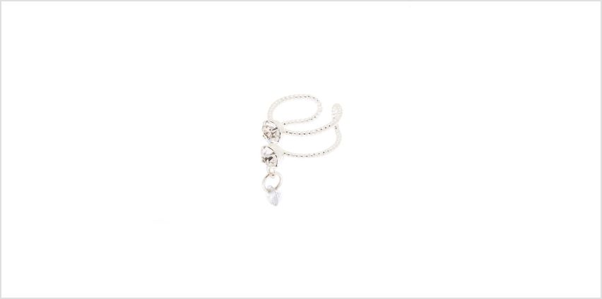 Go to Product: Silver Wire Faux Crystals Ear Cuff Earring from Claires