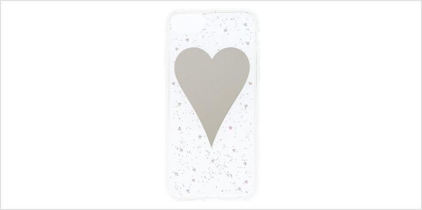 Go to Product: Mirror Heart Glitter Phone Case - Fits iPhone 6/7/8 from Claires