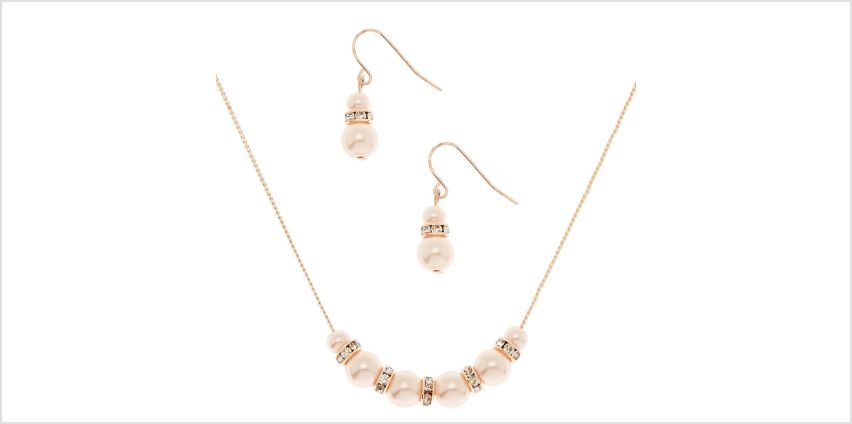 Go to Product: Rose Gold Pearl Classic Jewellery Set - 2 Pack from Claires