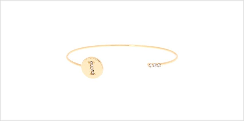 Go to Product: Gold Initial Cuff Bracelet - I from Claires