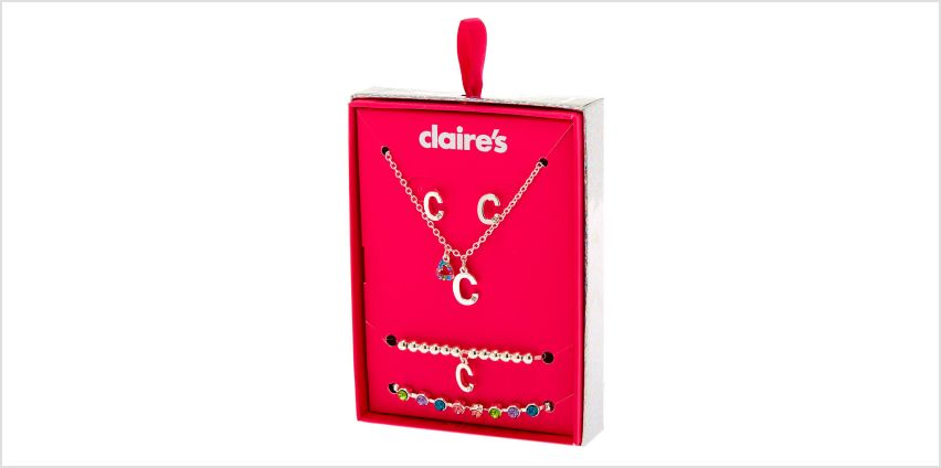Go to Product: Silver Rainbow Initial Jewellery Gift Set - C, 4 Pack from Claires