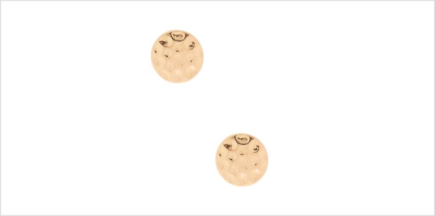 Go to Product: Gold Hammered Stud Earrings from Claires