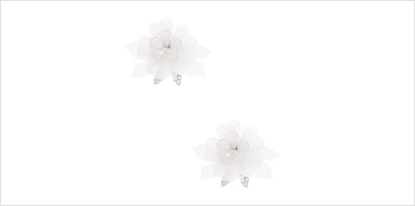 Go to Product: Tulle Flower Stud Earrings - White from Claires