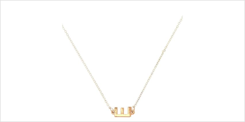 Go to Product: Mixed Metal Sideways Initial Pendant Necklace - E from Claires
