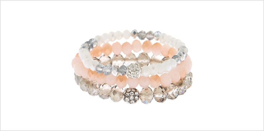 Go to Product: Beaded Stretch Bracelets - Pink, 3 Pack from Claires