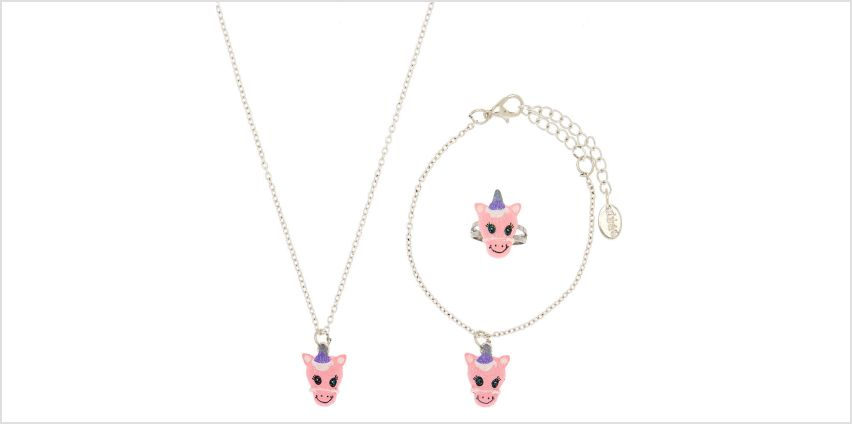 Go to Product: Claire's Club Unicorn Jewellery Set - Pink from Claires