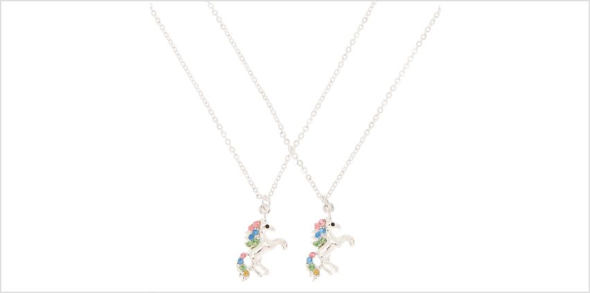 Go to Product: Best Friends Embellished Unicorn Pendant Necklaces - 2 Pack from Claires