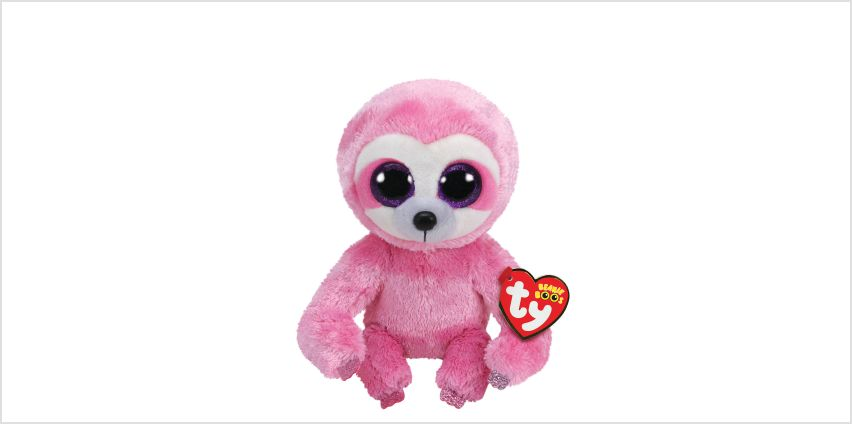 Ty Beanie Boo Small Simone the Sloth Soft Toy from Claires