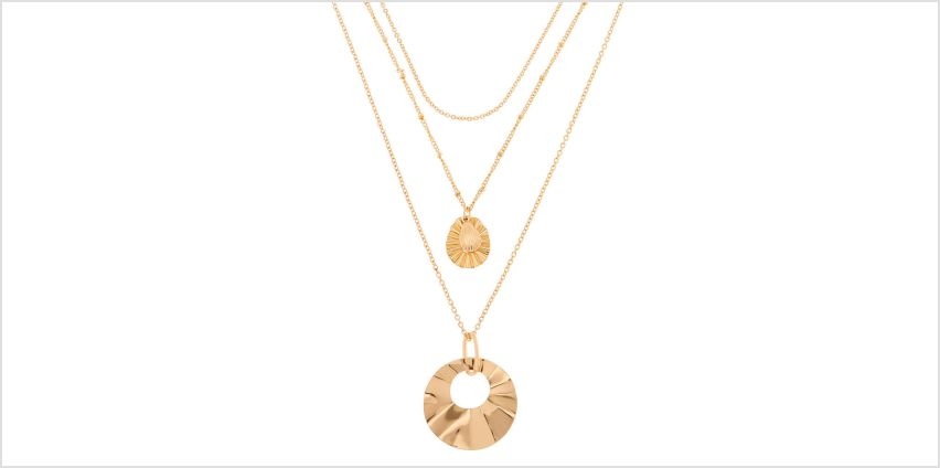 Go to Product: Hammered Gold Multi Strand Necklace from Claires