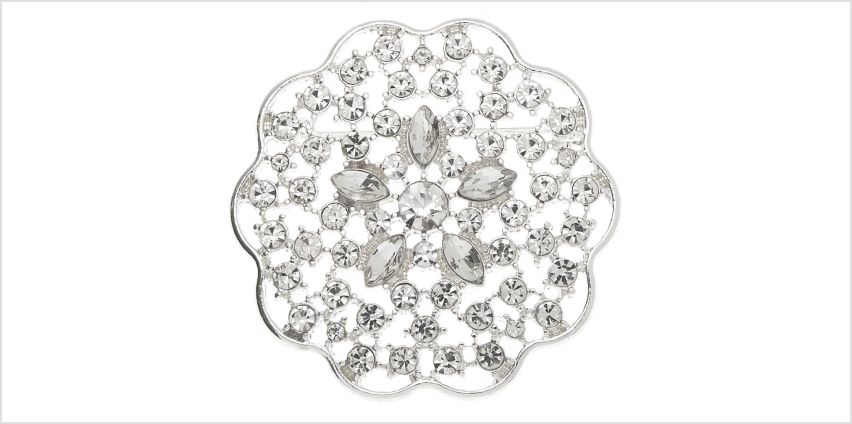 Go to Product: Silver Rhinestone Floral Burst Brooch from Claires