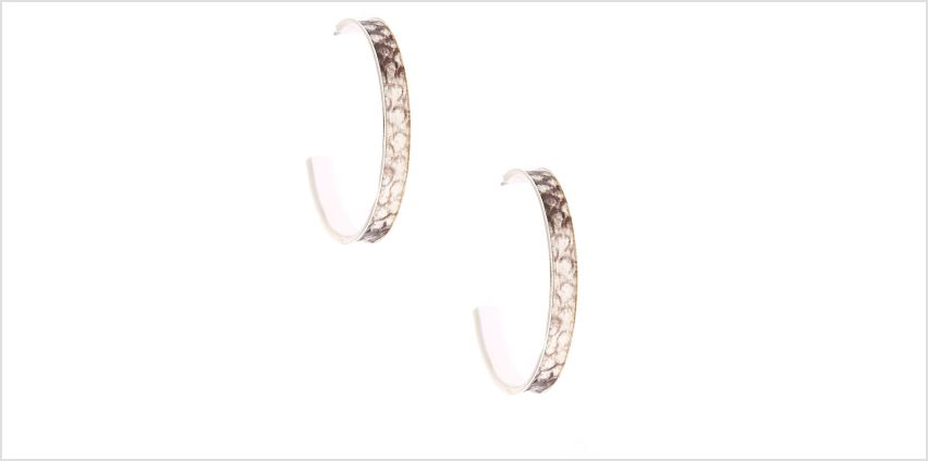 Go to Product: 40MM Snakeskin Hoop Earrings from Claires