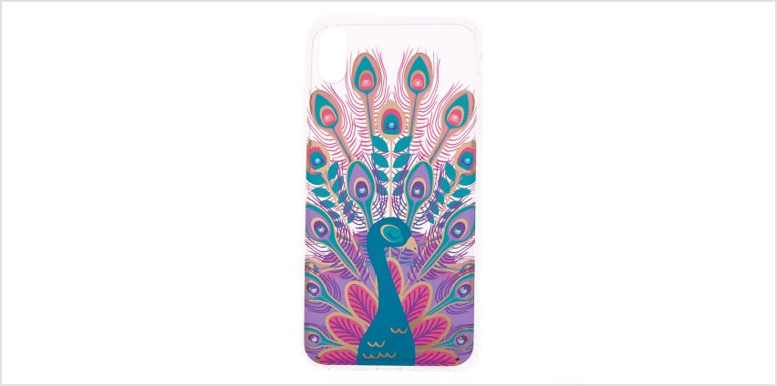 Go to Product: Crystal Peacock Phone Case - Fits iPhone XS Max from Claires