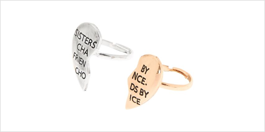 Go to Product: Sisters & Friends Rings - 2 Pack from Claires
