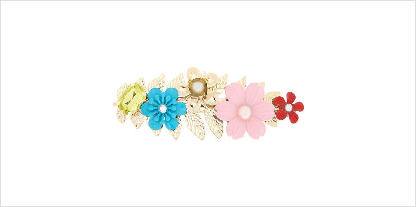 Go to Product: Bright Floral Hair Barrette - Gold from Claires
