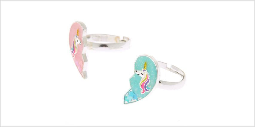 Go to Product: Best Friends Unicorn Heart Rings - 2 Pack from Claires