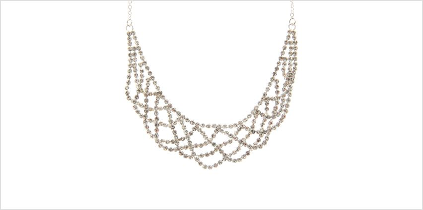 Go to Product: Silver Rhinestone Draped Choker Necklace from Claires
